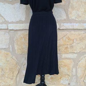 Norton McNaughton Vintage Black Maxi Skirt